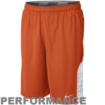 Nike Texas Longhorns Football Select Fly Performance Shorts - Burnt Orange
