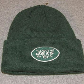 DCK4S2 NEW Reebok NY New York JETS NFL Beanie Hat Cap Adult One Size Fits All