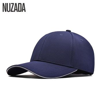 Brand NUZADA Winter Autumn Snapback High Quality Cotton Process Baseball Caps For Men Women Simple Hip Hop Cap Cotton Bone
