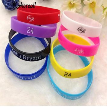 3 PCS Set Randomly Send Women Men Basketball Super Star Sign Rubber Wristband James Ko