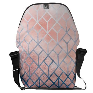 Geometric XI Courier Bag