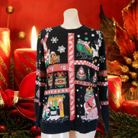 Ugly Christmas Sweater Tacky Christmas Sweater Ugly Christmas Sweatshirt Holiday Sweater 90s Sweatshirt Hipster Sweatshirt Hipster Clothes