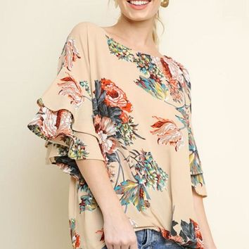 Stand Firm Top in Taupe