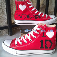 One Direction Converse, 1D Converse Shoes I Love 1D for One DirectionFans