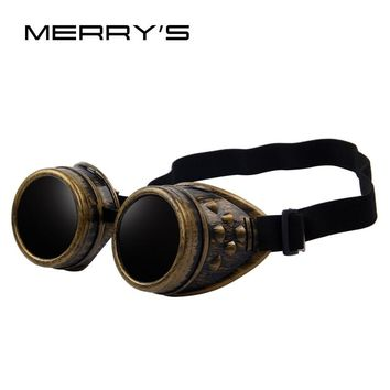 MERRY'S Unisex Gothic Vintage Victorian Style Goggles Welding Punk Gothic Glasses Cosplay