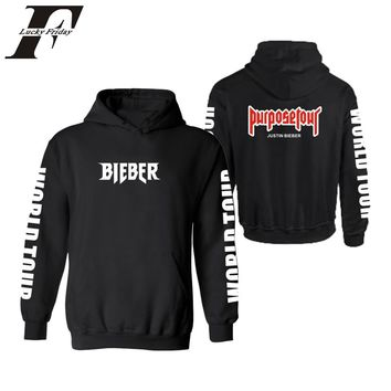 Justin Bieber purpose tour Hoodies 2017 Men's Hoodie and Sweatshirt Black Hoodie for Men's Clothing Justin Bieber purpose tour