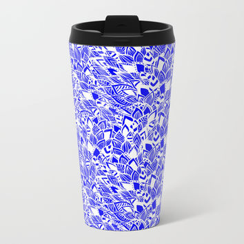 Moroccan Bloom Metal Travel Mug by cadinera