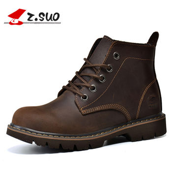 British Style Women's Tooling Boots High Quality Crazy Horse Leather