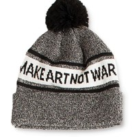 Obey Make Art Not War Pom Beanie