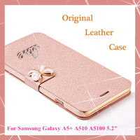 "Original Wallet PU Leather Flip Luxury Case For Samsung Galaxy A5 A5+ A510 A5100 5.2"" Phone Cases + Screen protection"