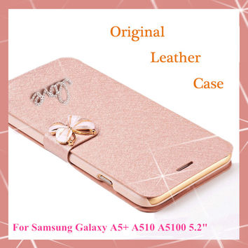 Original Wallet PU Leather Luxury Case Fundas For Samsung Galaxy A5 2016 A5+ A510 A510F A5100 Phone Case + Screen protection