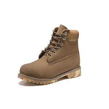 Timberland 10061 Leather Lace-Up Boot Men Women Shoes Khaki
