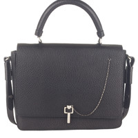 Grainy Leather Flap Bag