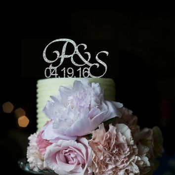 Acrylic Wedding Decoration Custom Cake Toppers Initials