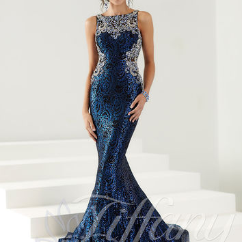 Illusion Bateau Neckline Tiffany Designs Prom Dress 16149