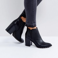 Office Isabella Studded Heeled Ankle Boots at asos.com