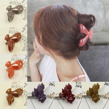 2017 New Fashion Big Hair Clip Hair Claws Clips Hair Accessories For Women Girls Headwear Hair Crab Clamp Hot S Free Shipping