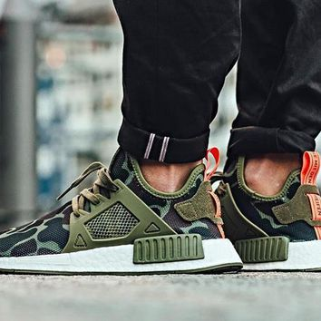2017 Adidas NMD XR1 Duck Camo / Olive Cargo - BA7232 Running Sport Shoes Camouflage Sneakers