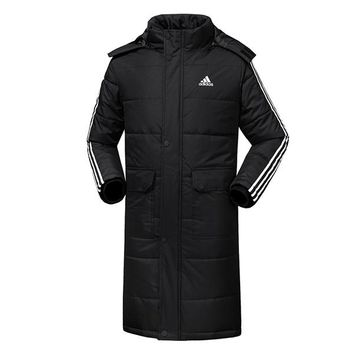 Adidas Women Men Fashion Casual Hooded Cardigan Jacket Coat Windbreaker