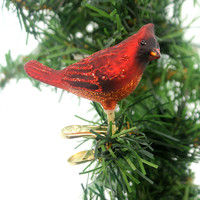 Old World Christmas MINI SONGBIRD Happiness Joy Spring 18042 Male Cardinal