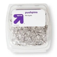 up & up™ Push Pins Clear 60-ct.