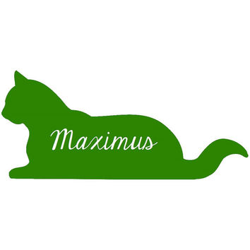 Cat Personalized Decal - Cat Name Decal