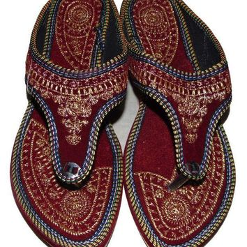 CREYON Rajasthani-Embroidered-Heel-Wedges-Ethnic-Fashion-Woman-Sandal-Slipper 6