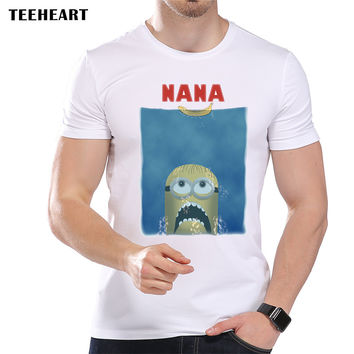 Funny Minions T shirt for Men Short Sleeve Cool Jaw Printed T Shirts Casual Funny Tops