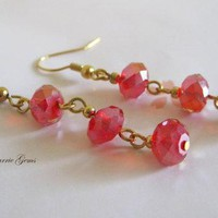 Chinese Crystal Red Earrings