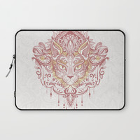 Cat mandala Laptop Sleeve by printapix