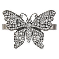 Gucci Crystal studded butterfly palm cuff