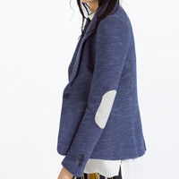 BLAZER WITH ELBOW PATCHES - BLAZERS-WOMAN | ZARA United Kingdom