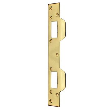 Defiant Bright Brass Security Latch Strike-70282 - The Home Depot