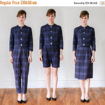 ON SALE 5 Piece Set . Plaid Outfit