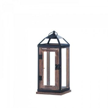 Wooden Trim Contemporary Lantern