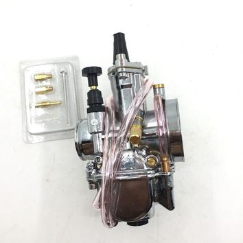 24mm PWK 24 Carb Carburetor JOG RTL250 CR80 CR125 chrome Dirt Bike replace Keihin mikuni  fit for HONDA SUZUKI KTM ..