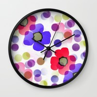 Floret Wall Clock by Kathleen Sartoris