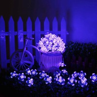AGPtek Waterproof 50 LED Solar Powered Blossom String Lights for Gardens Lawn Patio Christmas Trees - Walmart.com
