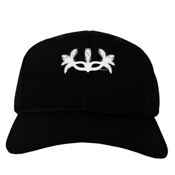 Masquerade Mask Silhouette Adult Dark Baseball Cap Hat by TooLoud