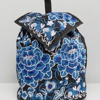 Reclaimed | Reclaimed Vintage Embroidered Floral Backpack at ASOS