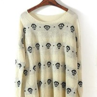Skull Long Sleeve Sweater  $40.00