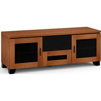 Elba 65 Inch TV Stand Cabinet Center Speaker Opening American Cherry