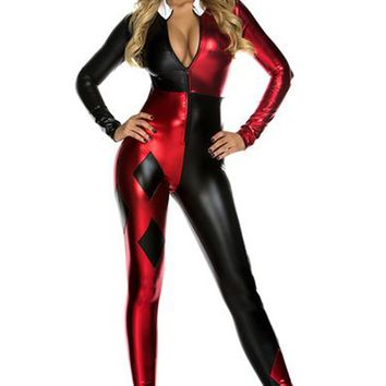 Jazzy Jester Costume - Red/Black