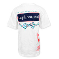 Simply Southern Bowtie Turtle T-Shirt - White