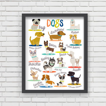 I Love Dogs! Art Print