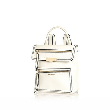 River Island Womens White structured backpack