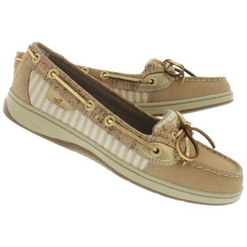 Sperry Top-Sider Women's ANGELFISH sand metallic boat shoes STS91525