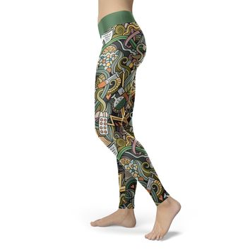 Nurse Collage Leggings