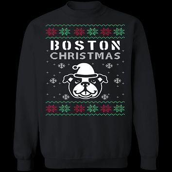 Boston Terrier Ugly Christmas Sweater
