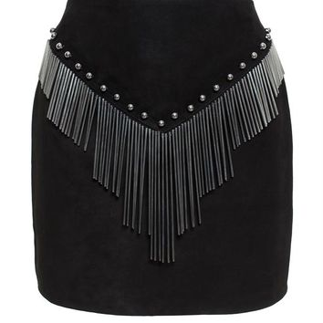 ANTHONY VACCARELLO | Metal Tassel Mini Skirt | brownsfashion.com | The Finest Edit of Luxury Fashion | Clothes, Shoes, Bags and Accessories for Men & Women